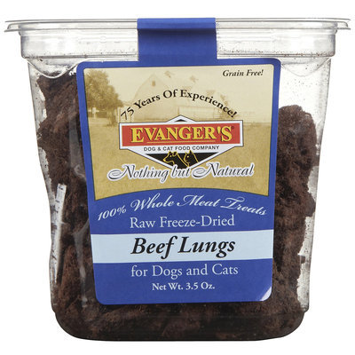 Evangers Evanger's Nothing But Natural Raw Freeze Dried Beef Lungs - 3.5 oz