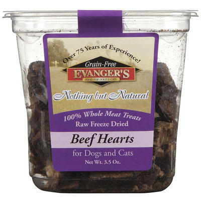 Evangers Evanger's Nothing But Natural Raw Freeze Dried Beef Hearts - 3.5 oz
