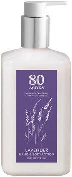 80 Acres Lavender Olive Oil Hand & Body Lotion W/Pump