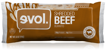 Evol Shredded Beef Burrito