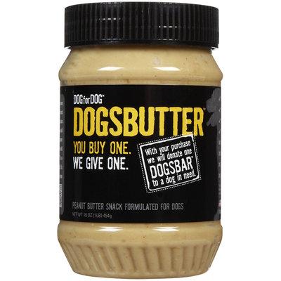 Dog for Dog DOGSBUTTER Peanut Butter - 16 oz