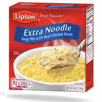 Lipton® Soup Secrets Extra Noodle Soup Mix with Real Chicken Broth