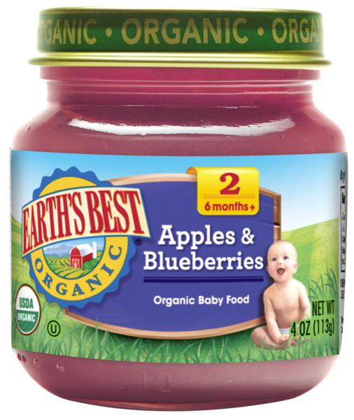 Earth's Best Organic® Apples & Blueberries Baby Food