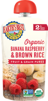Earth's Best Organic® Banana, Raspberry & Brown Rice Baby Food Puree