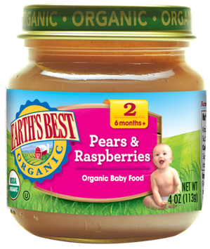 Earth's Best Organic® Pears & Raspberry Baby Food