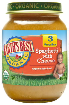 Earth's Best Organic® Spaghetti with Cheese Baby Food