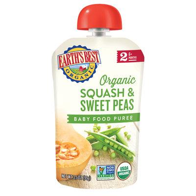 Earth's Best Organic® Squash & Sweet Peas Baby Food Puree