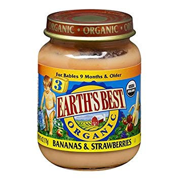 Earth's Best Organic® Bananas & Strawberries Baby Food