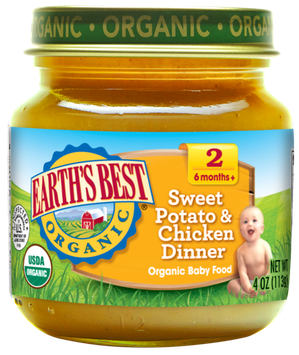 Earth's Best Organic® Sweet Potato and Chicken Dinner Baby Food