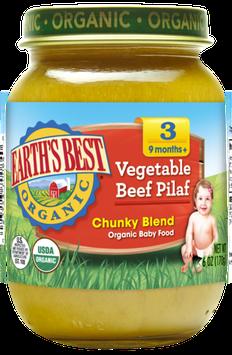 Earth's Best Organic® Vegetable Beef Pilaf Baby Food