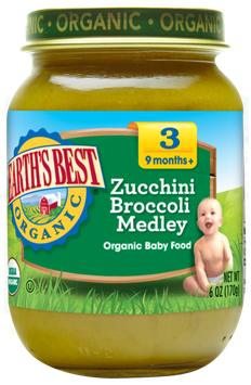 Earth's Best Organic® Zucchini Broccoli Medley Baby Food