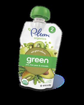 Plum Organics Eat Your Colors® Green – Pea, Kiwi, Pear & Avocado