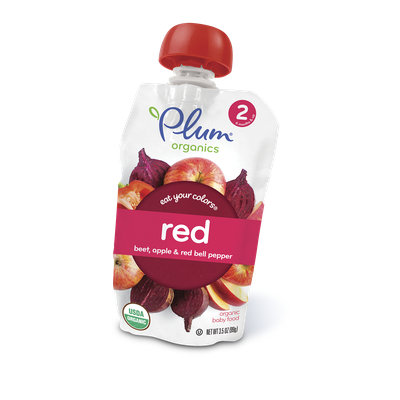 PlumOrganics Eat Your Colors® Red – Beet, Apple & Red Bell Pepper