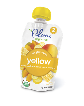 Plum Organics Eat Your Colors® Yellow – Mango, Yellow Zucchini, Corn & Turmeric
