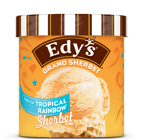 Edy's Classics Grand Sherbet Tropical Rainbow