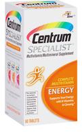 Centrum® Specialist Complete Multivitamin: Energy