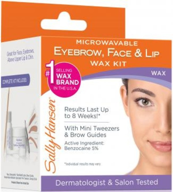 Sally Hansen® Microwavable Eyebrow, Face & Lip Wax Kit