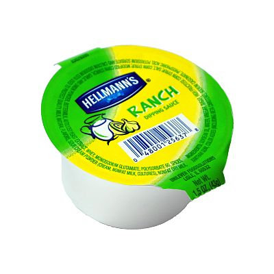 Hellmanns Hellmann's Ranch Dipping Cup (box of 100)