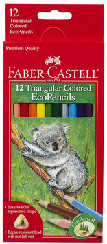 Faber-Castell 12ct Triangular Colored EcoPencils