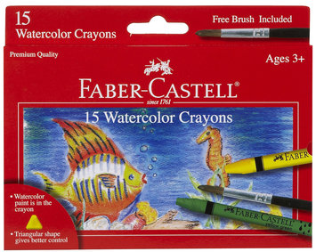 Faber-Castell 15ct Watercolor Crayons w/ Brush