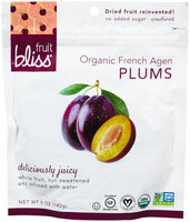 Fruit Bliss DRIED PLUMS, OG1, (Pack of 6)