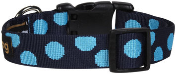 Fab Dog Dot Collar - Blue - Large - 1 inch