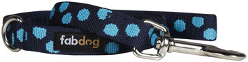 Fab Dog Dot Leash - Blue - Large - 1 inch x 5 feet