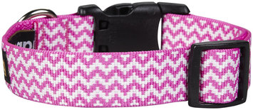 Fab Dog Chevron Collar - Pink - Large - 1 inch
