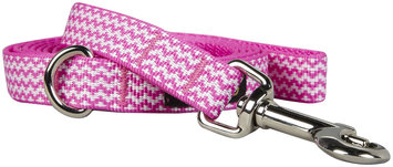 Fab Dog Chevron Leash - Pink - Large - 1 inch x 5 feet