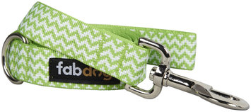 Fab Dog Chevron Leash - Lime - Large - 1 inch x 5 feet