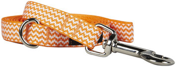 Fab Dog Chevron Leash - Orange - Large - 1 inch x 5 feet