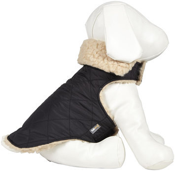 Fab Dog Quilted Shearling Jacket - Black