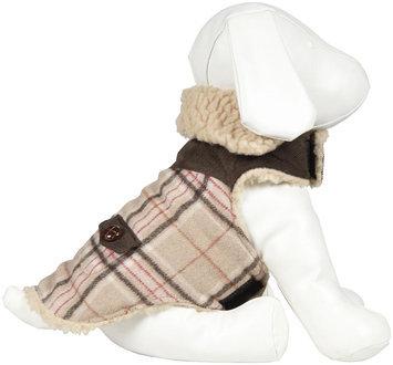 Fab Dog Wool Plaid Shearling - Camel Plaid
