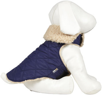 Fab Dog Quilted Shearling Jacket - Navy