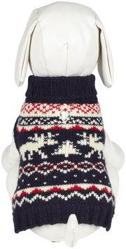 Fab Dog Moose Fairisile Sweater - Navy