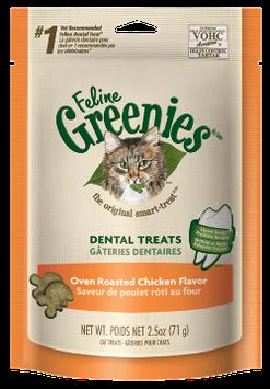 FELINE GREENIES™ Dental Treats Oven Roasted Chicken Flavor