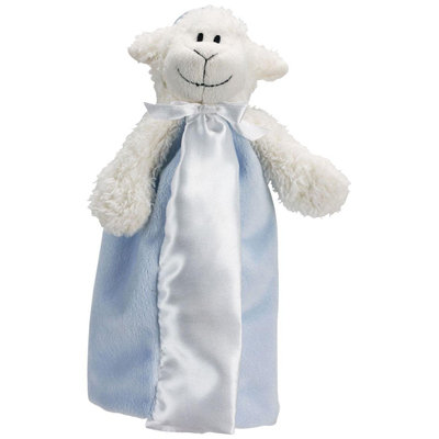 Babies R Us First Friends Satin Blanket Pacifier Pal - Blue Lamb