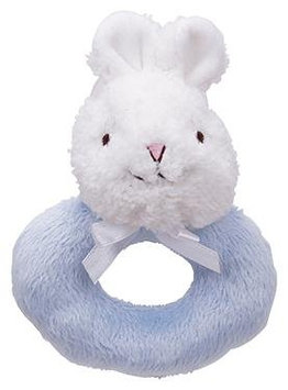 First Friends Light Blue Bunny Ring Rattle with Single Detachable Breast Feeding Pacifier - 1 ct.