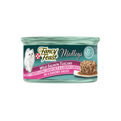 Fancy Feast® Wild Salmon Tuscany With Long Grain Rice & Garden Greens In A Savory Sauce