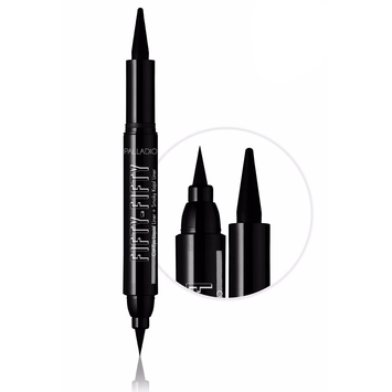 Palladio FIFTY-FIFTY Cat-Eye Liquid Liner and Smoky Kajal