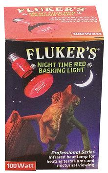 Flukers Fluker's Red Night Time Reptile Basking Spotlight Infrared Heat Lamp Bulb - 150 Watt