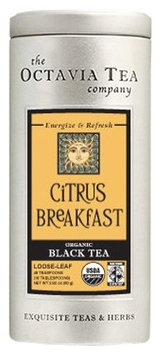 Octavia Tea Citrus Breakfast (Organic, Fair Trade Black Tea), 2.82-Ounce Tin