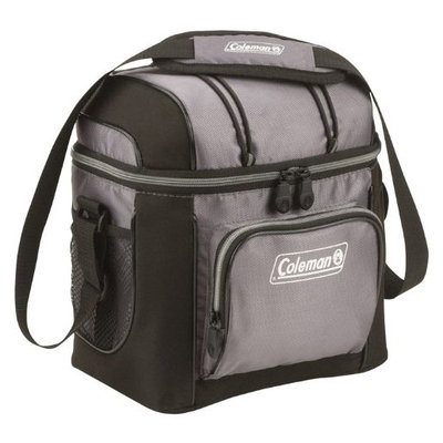 Coleman 9-Can Soft Cooler With Hard Liner, Gray