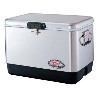 Coleman 54 qt. Stainless Steel Belted Cooler
