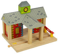 Bigjigs Toys Bigjigs Wooden Expansion Train Track Playset (Railway Station) - 1 ct.
