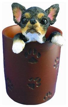 E & S Pets ES Pets Pen/Pencil Holder - Black & Tan Chihuahua