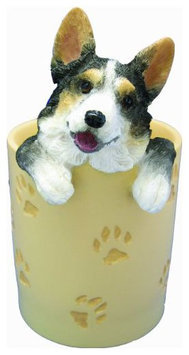 E & S Pets ES Pets Welsh Corgi - Tri Color - Pen/Pencil Holder