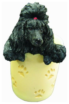 E & S Pets ES Pets Black Poodle - Pen/Pencil Holder