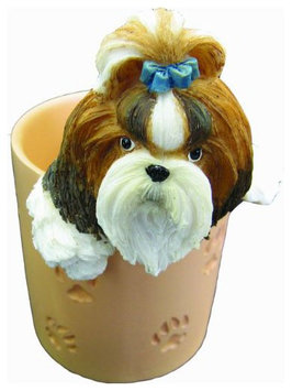 E & S Pets Shih Tzu Tan - Pen/Pencil Holder