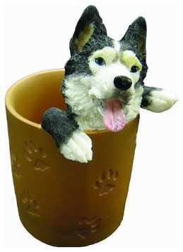 E & S Pets Siberian Husky Pen/Pencil Holder